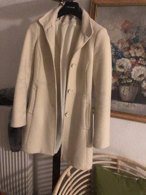 Kein Wełniany płaszcz kremowy-w kolorze białej wełny Wełna
