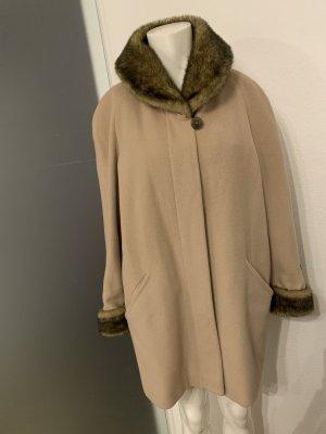 Wollmischung Mantel mit Fellkragen Gr 38 40 M von Fabiani