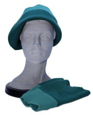 Fabric Hat cadet blue wool