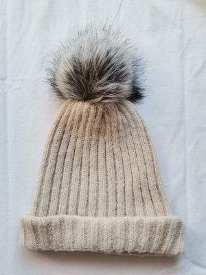 Pieces Cappello di lana crema-beige