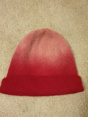 no name Knitted Hat neon red-light pink