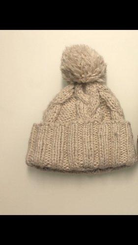 H&M L.O.G.G. Wełniana czapka beżowy