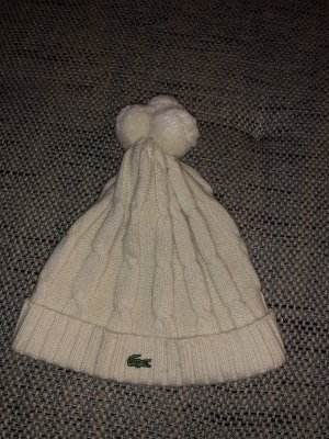 Lacoste Knitted Hat natural white