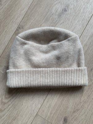 Sombrero de punto crema Lana