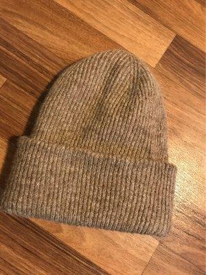Zara Accesoires Knitted Hat grey brown