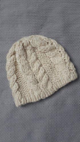 H&M Cappello a maglia bianco sporco-crema