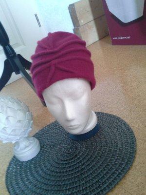 Maya Wollen hoed magenta Wol