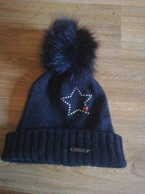 Cappello a maglia grigio scuro-antracite
