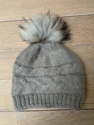 Beck concept Sombrero de piel marrón grisáceo