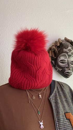 Sombrero de punto rojo Cachemir