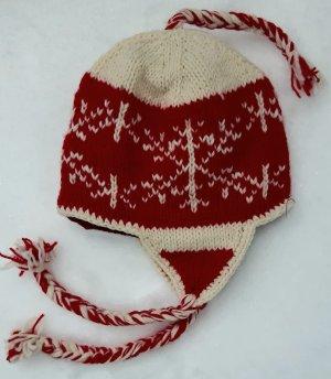 keine Sombrero de punto blanco-rojo