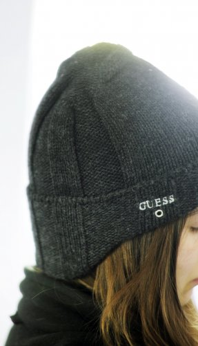 Guess Knitted Hat grey-dark grey
