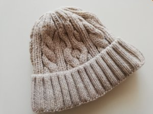 Campus by Marc O'Polo Knitted Hat oatmeal-sand brown mixture fibre
