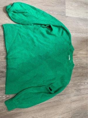 Pieces Jersey de lana verde