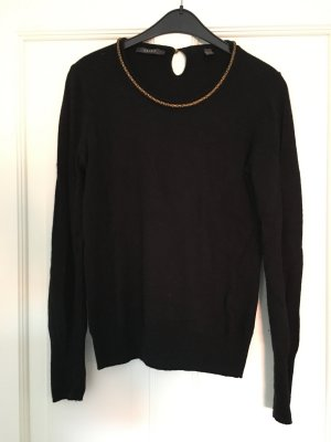 Esprit Wool Sweater black-gold-colored