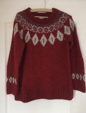 Esprit Norwegian Sweater white-bordeaux