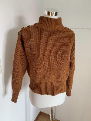 Robin Wełniany sweter brązowy
