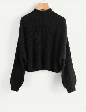 Zara Wool Sweater black cotton