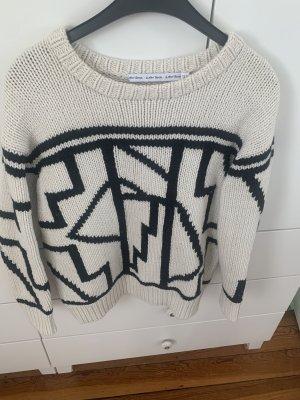 AndOtherStories Maglione lavorato a maglia nero-bianco sporco Lana
