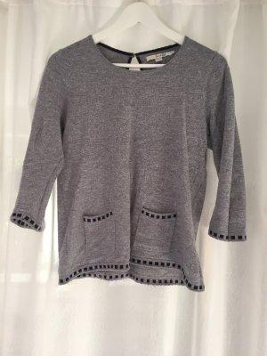 Boden Wełniany sweter jasnoszary-ciemnoniebieski