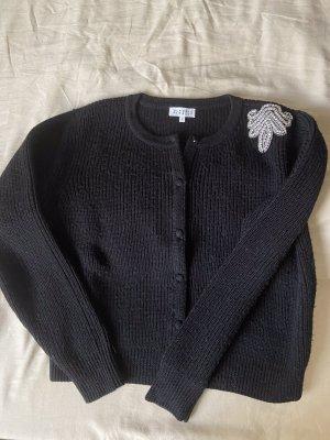 Claudie Pierlot Maglione di lana nero-argento Lana