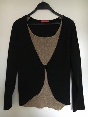 Apriori Wollen trui zwart-goud