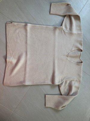 Wełniany sweter jasnobeżowy Wełna