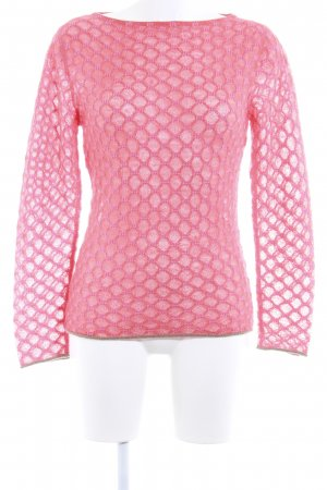 Wool Sweater bright red-pink casual look
