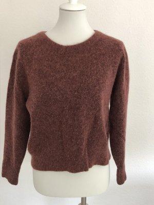 Samsøe & samsøe Pull en laine rouge carmin-brun rouge