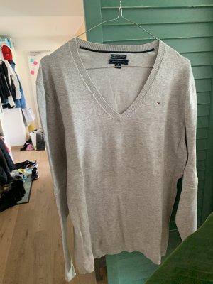 Hilfiger Denim Maglione di lana grigio chiaro