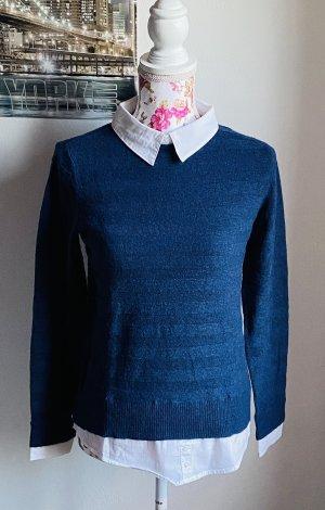 Wollpullover mit weißem Hemd -Esprit-