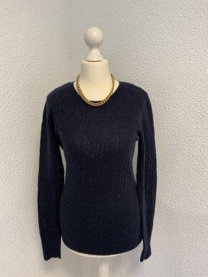 Arabella & Addison Wełniany sweter ciemnoniebieski-niebieski