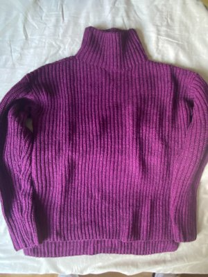 Rich & Royal Jersey largo violeta oscuro-violeta lana de alpaca
