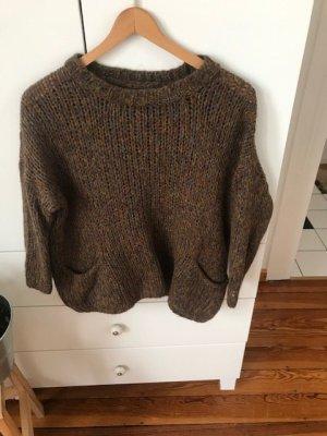 Wollpullover Shortpullover mit aufgesetzten Taschen