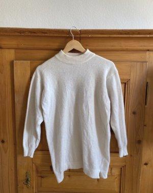 Jersey de lana blanco-blanco puro lana de angora