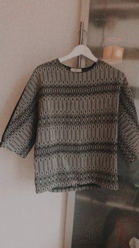 Ba&sh Wełniany sweter biały-czarny
