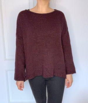 Brandy & Melville Pull en laine rouge mûre-brun pourpre