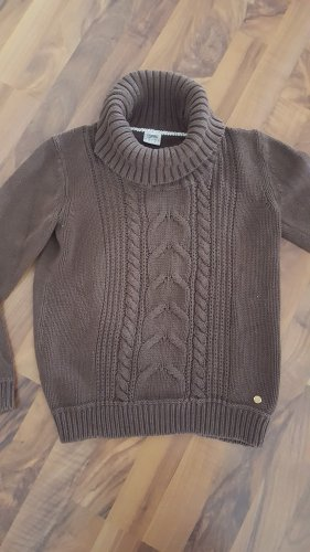Esprit Wool Sweater taupe-grey brown