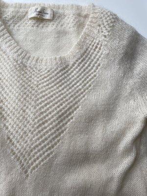 Wollpullover weiß Größe L