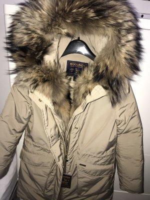 Woolrich Fur Jacket oatmeal-beige