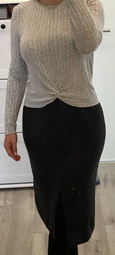 Jupe en laine gris foncé