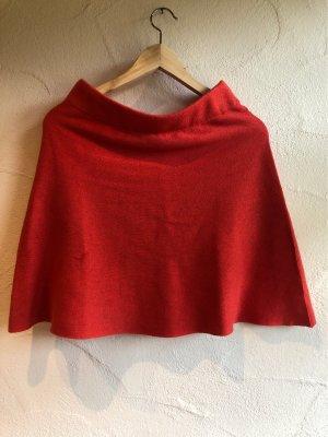 SKFK Falda de lana rojo ladrillo
