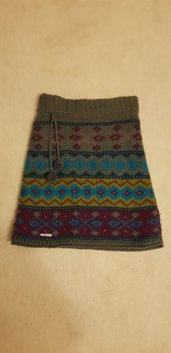 Moshiki Gonna di lana multicolore