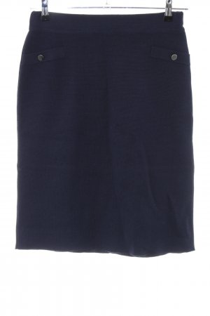 Wool Skirt blue business style