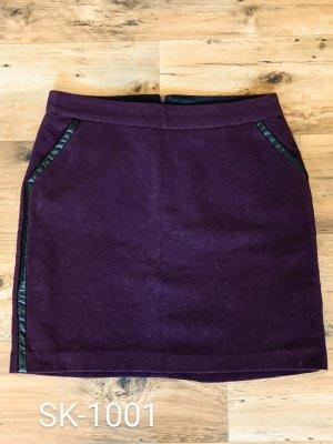 UpFashion Wełniana spódnica brązowo-fioletowy-ciemny fiolet
