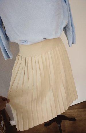 Marco Polo Plaid Skirt cream-beige
