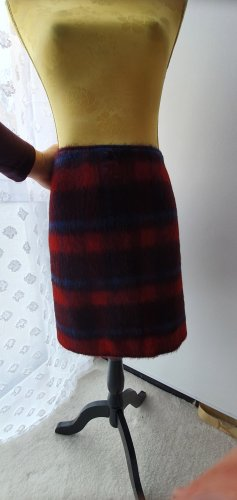 Marc O'Polo Wool Skirt black-red