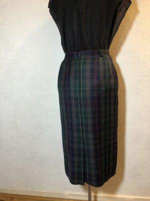 Vintage Falda de lana multicolor