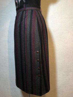 Vintage Asymetryczna spódniczka bordo-antracyt