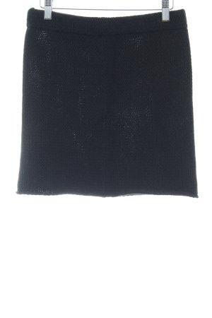 Wollrock schwarz Casual-Look
